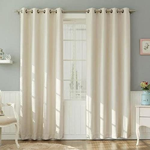 Curtains – Cotton Curtains Panels for Bedroom – Window and Door Treatment for Living Room – 2 Panel Curtain 100 Cotton 40 Widht Wise 80 Inch Length Wise Ivory Solid