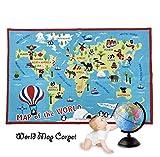 world carpet - FADFAY Kids Rug World Map Carpet children's rug 39''59'