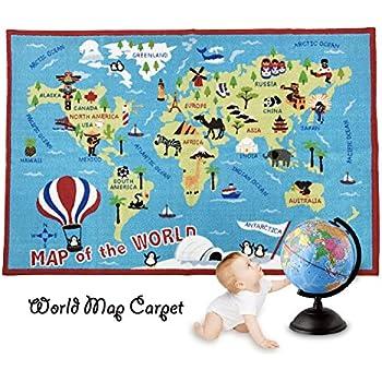 Amazon Com Fadfay Kids Rug World Map Carpet Children S Rug 39 59