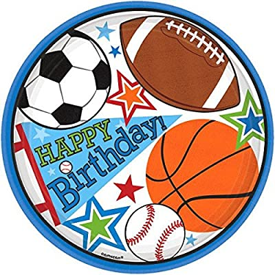 Plates | Superstar Ball Sports Collection | Birthday: Toys & Games
