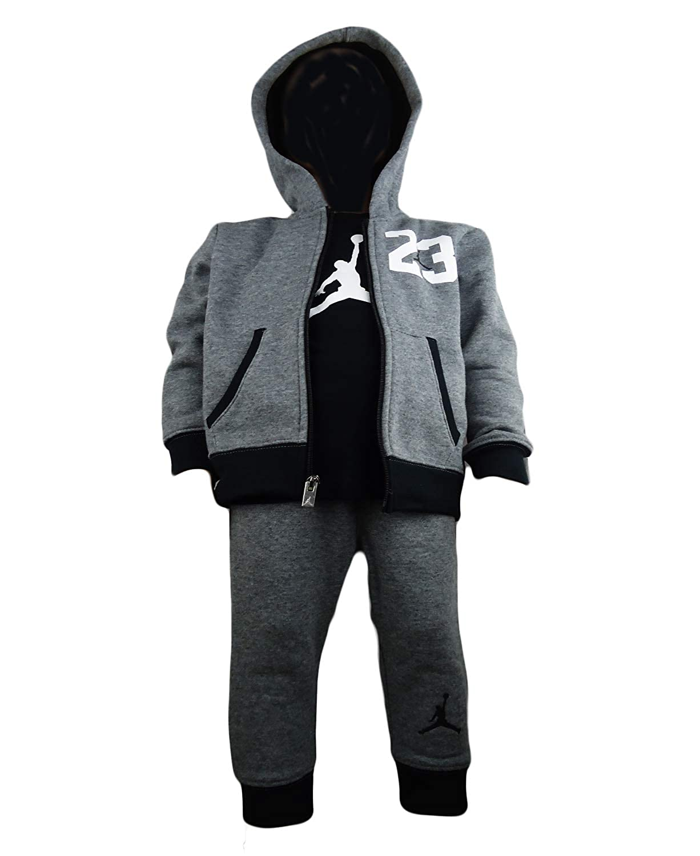 Jordan Nike Michael Baby Boys 3 Pcs Sets Carbon HTHR)