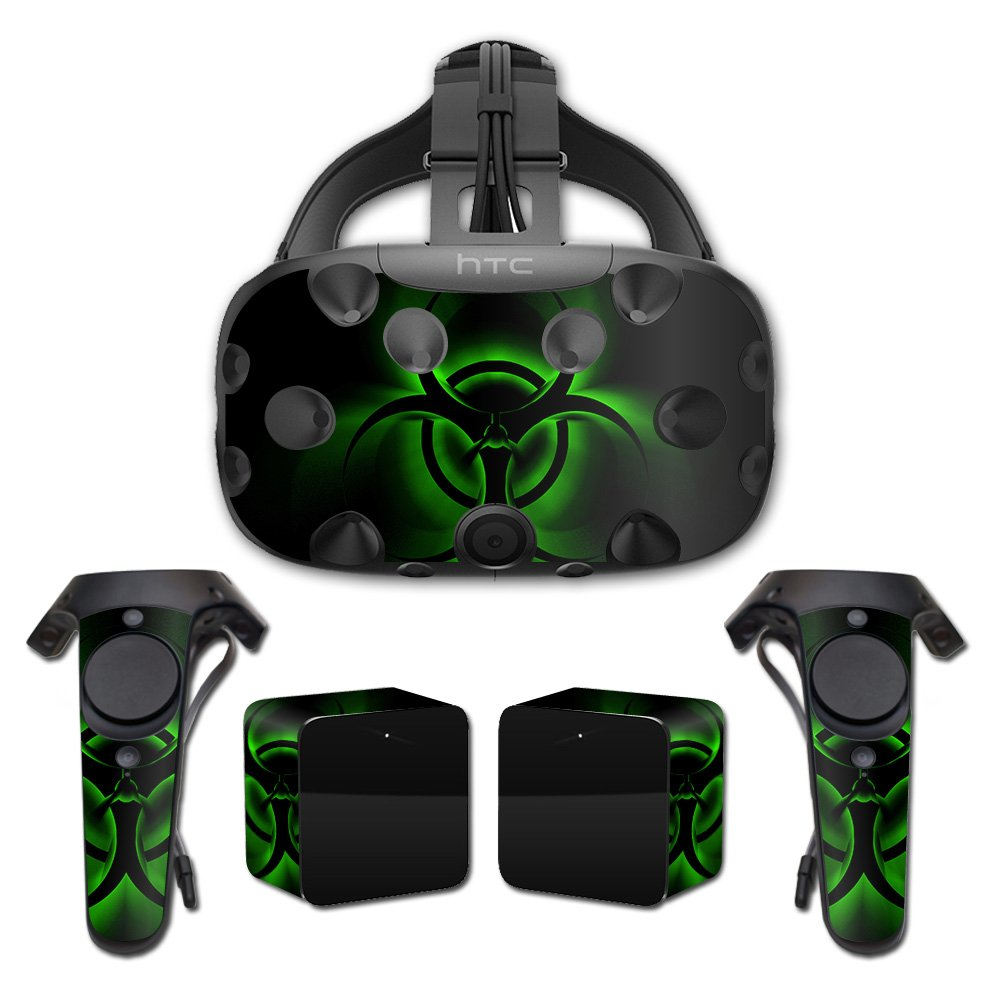MightySkins Skin For HTC Vive Full Coverage - Bio Glare | Protective, Durable, and Unique Vinyl Decal wrap cover | Easy To Apply, Remove, and Change Styles | Made in the USA