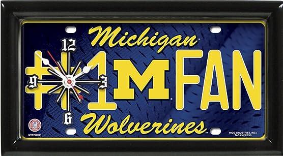 GTEI Michigan Wolverines 1 Fan Clock by