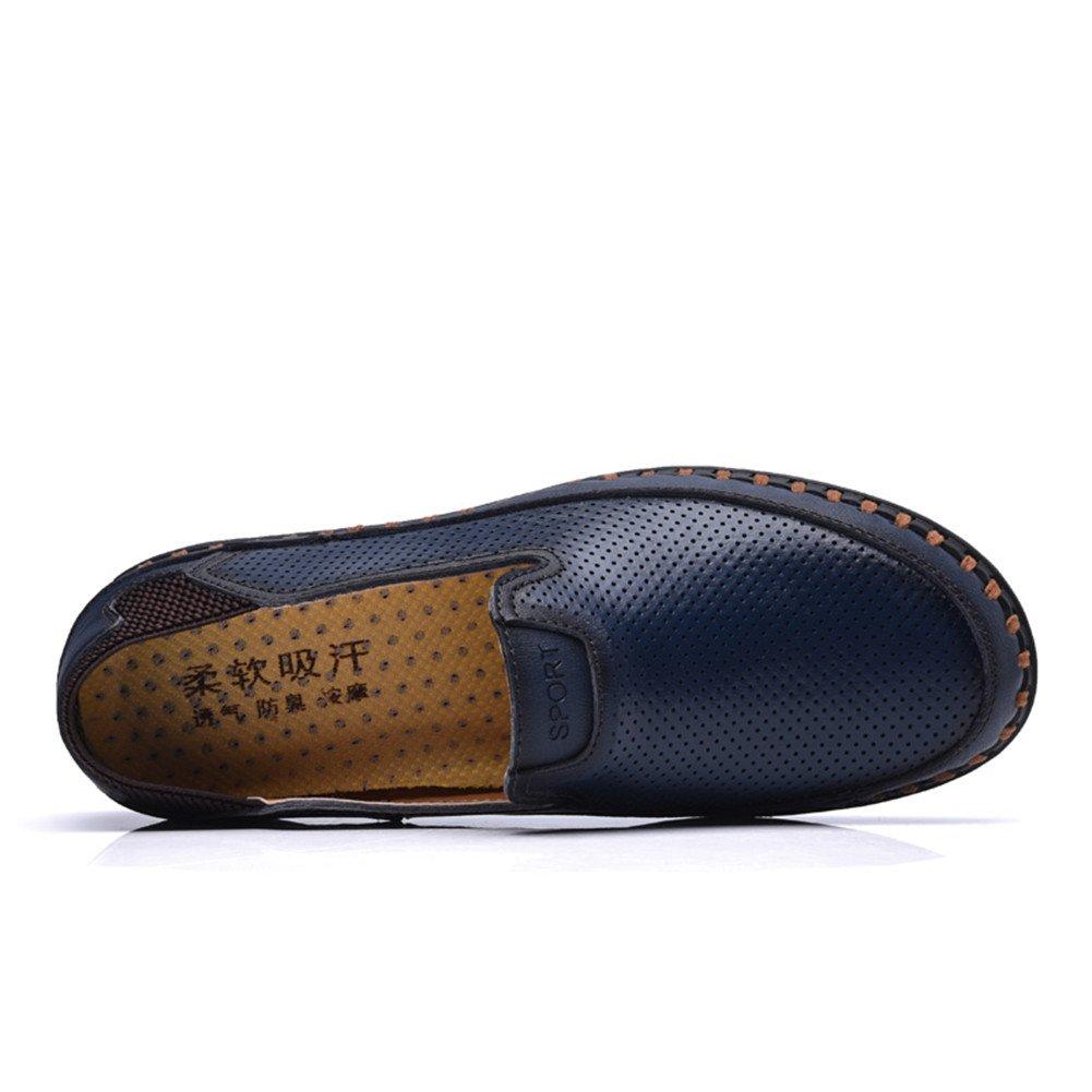 ailishabroy Mocassins Plats Respirants d été des Hommes Glissent sur la  Chaussure en Cuir  Amazon.fr  Chaussures et Sacs 93fb2710381