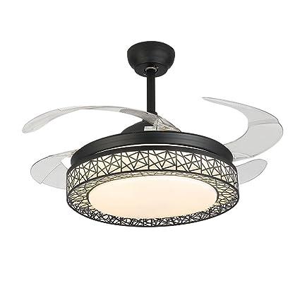 Moerun 42 inch led modern ceiling fan lamp remote control chandelier moerun 42 inch led modern ceiling fan lamp remote control chandelier pendant light black aloadofball Choice Image