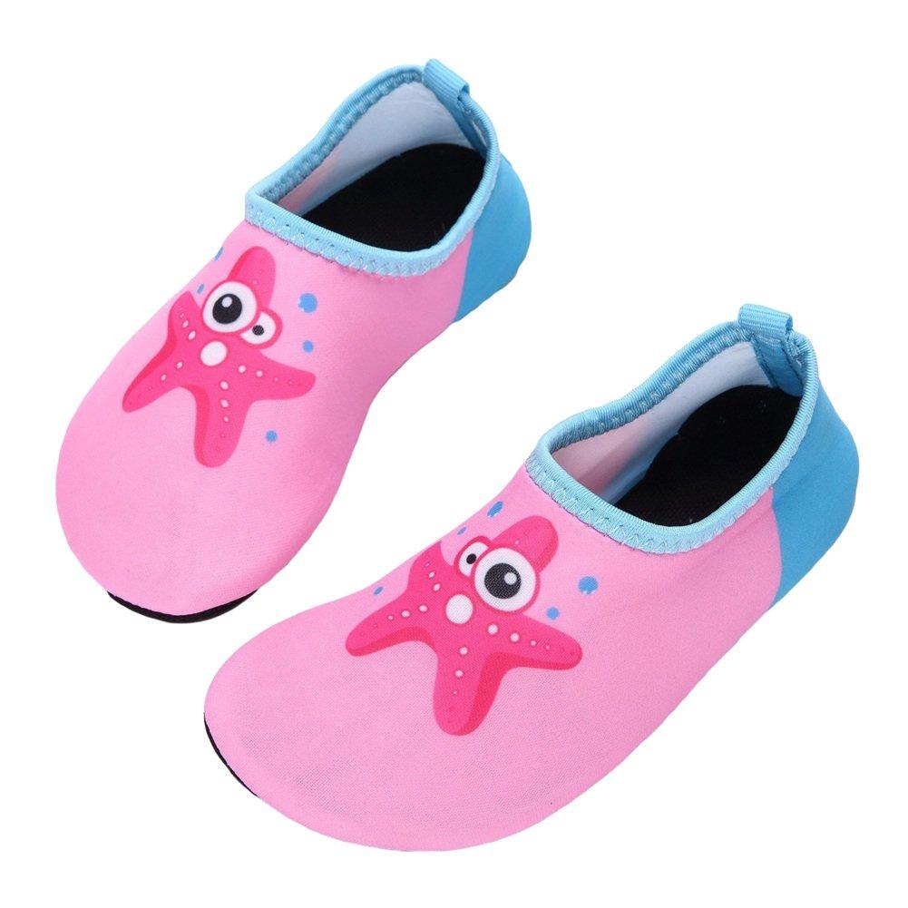 ZTL Cute Cartoon Starfish Water Shoes Swim Shoes Barefoot Aqua Socks for Kids