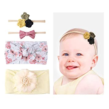 Amazon.com: Lomezi - Diademas elásticas para bebé y niña ...