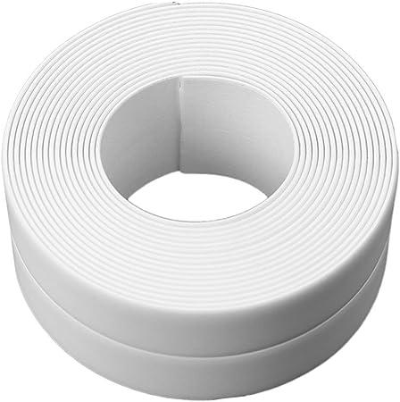 VANKER Cinta Adhesiva, 3.8cmX3.2m Rollo de Cinta para Juntas de baño o Cocina Color Blanco: Amazon.es: Hogar