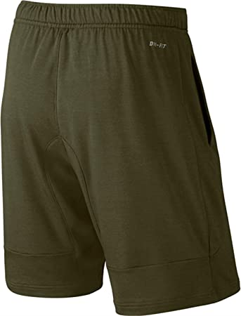 Nike Dri-FIT Touch Fleece Green Mens Training Shorts Size S