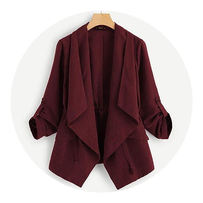 Amazon.com: Burgundy - Chaqueta y ropa de trabajo para mujer ...