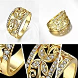 Sumanee Plated Size 7 Jewelry Fashion Size 8 White Zircon Wedding Ring Yellow Golden (7)