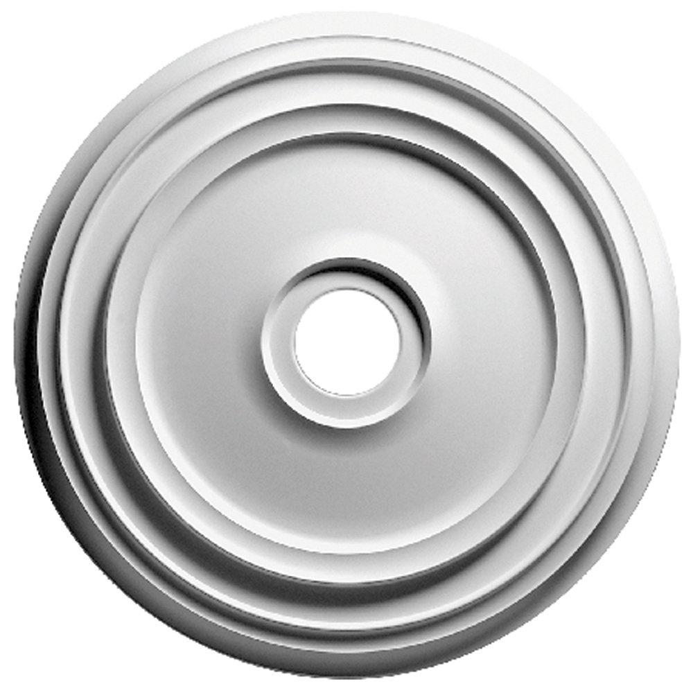 Focal Point 83024 24-Inch Rotunda Medallion 24 5/16-Inch by 24 5/16-Inch by 1 3/8-Inch, Primed White by Focal Point  24 Inch B0012M1GO4