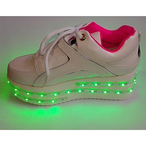 ACEVER SPORTS Flash zapatos zapatillas deportivas con luces LED Rave Party Prom Party regalo del día de San Valentín (para mujer): Amazon.es: Deportes y ...