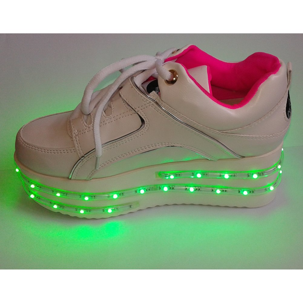 ACEVER Fashion Shoes multi-Color Changing LED Shoes Flashing Sneakers USB Charging LED Lighted Luminous Couple Casual Shoes Men's and Women's LED Shoes LED Sneakers Christmas Cosplay Halloween Party Rave Party Valentine's Day Gift Sports Shoes Prom Party  by ACEVER