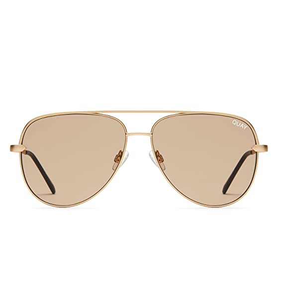 00295a82c3 Quay Australia SAHARA Women s Sunglasses Oversized Aviator Sunnies -  Gold Tope  Amazon.in  Clothing   Accessories