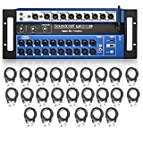 Soundcraft Ui24R 24-Channel Digital Mixer / Multi-Track USB Recorder with 24 AxcessAbles XLR-XLR20 Audio Cables