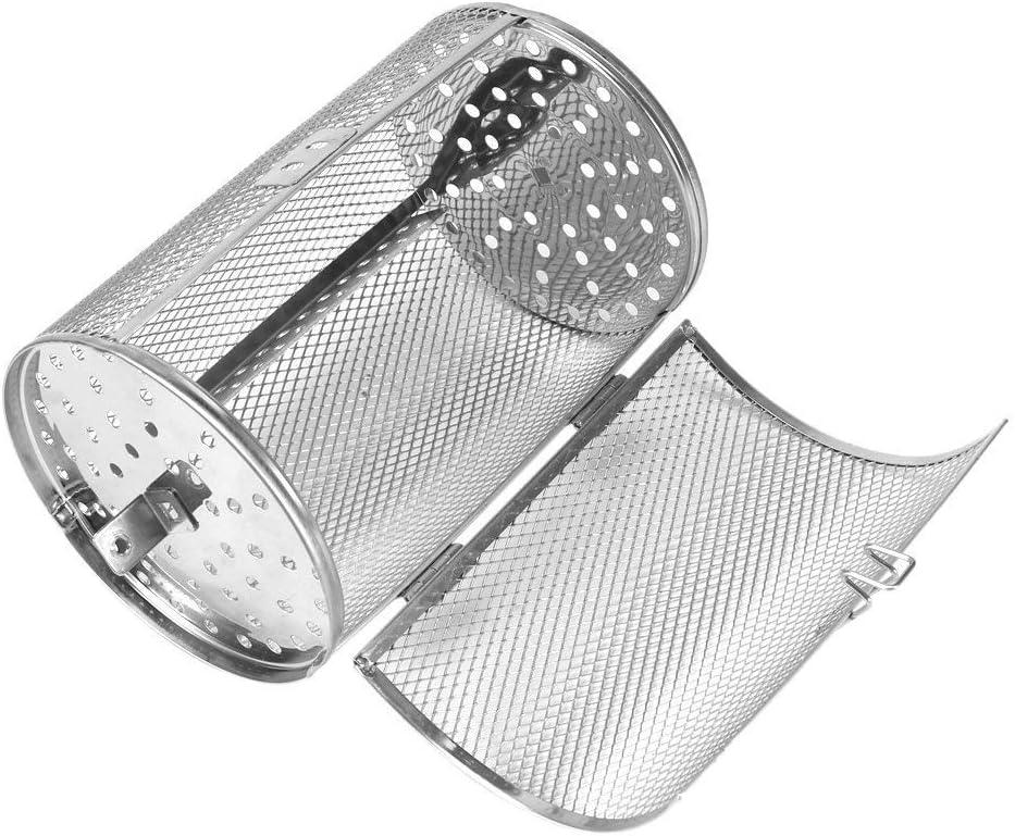 Compra Fdit Universal Fit Grill BBQ Asador Spit Rod Basket Granos de Café Cacahuete Acero Inoxidable Rotatorio Ronda Hornear Horno 12 * 18 cm en Amazon.es