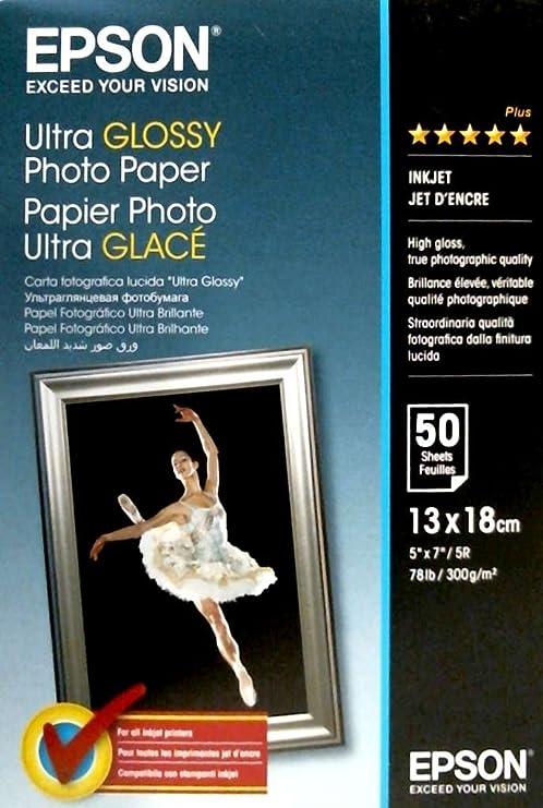 Epson C13S041944 - Papel fotográfico, 13 x 18 cm, 50 unidades ...