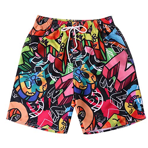 (HHei_K Fashion Lovers Men Coloured Print Surf Beach Shorts Leisure Quick Dry Swim Trunks Surfing Running Swimming Pants)