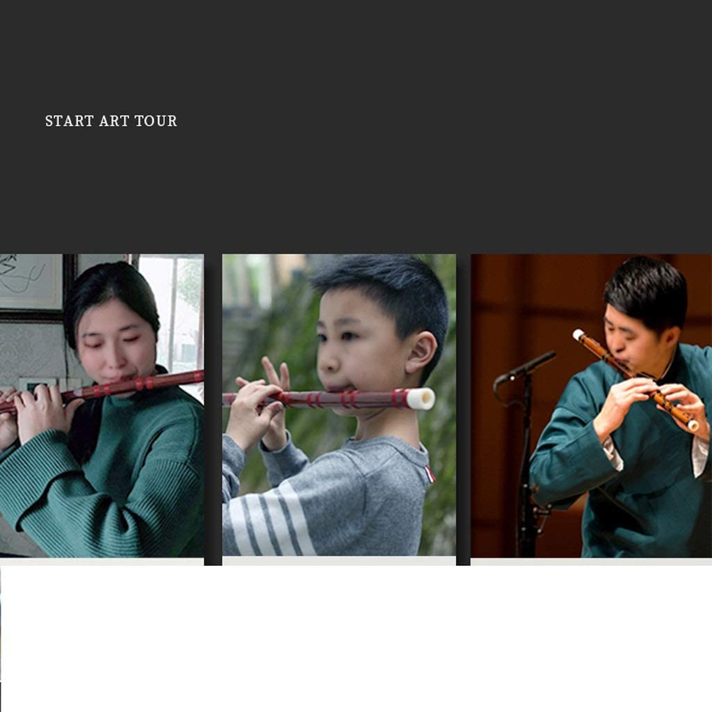 Size : C Tone Traditional Flute C D E F G Key Bamboo Flute Chinese Traditional Musical Instrument Black Vertical Woodwind Instrument