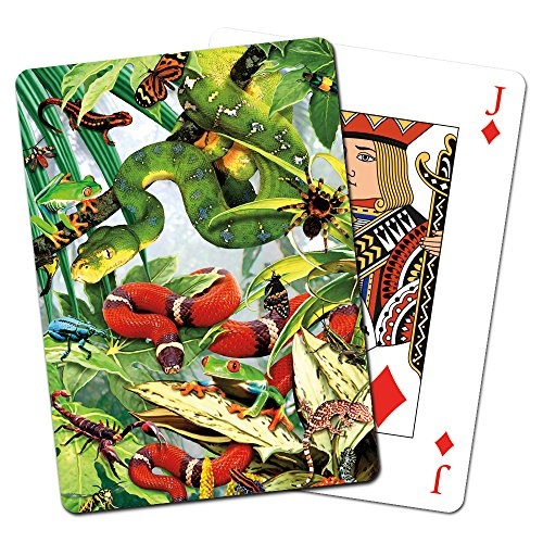 Tree-Free Greetings Deck of Playing Cards, 2.5 x 0.8 x 3.5 Inches, Reptiles - Playing Reptile Cards