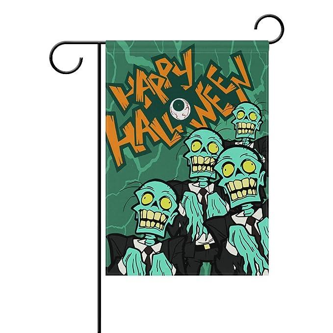 YZGO - Bandera de Halloween Zombies para jardín, Tela de ...