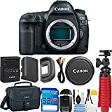 Canon EOS 5D Mark IV DSLR Camera ( Body Only ) 32GB SD Memory Card + Memory Card Reader + 12'' Flexible Tripod + Camera Case + Starter Cleaning Kit + Deal-Expo Accessories Bundle
