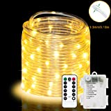 LED Rope Lights 32.8ft 100 LED Strip Lights Cosumina Waterproof Fairy Lights Dimmable LEDs for Garden Camping Party…