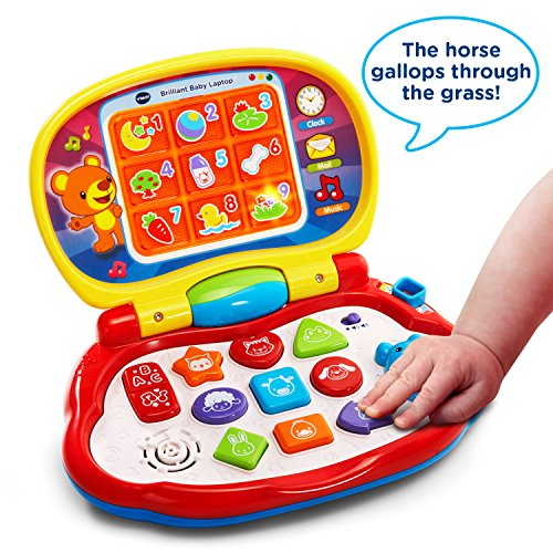61Rag%2BLtBfL - VTech Brilliant Baby Laptop,red