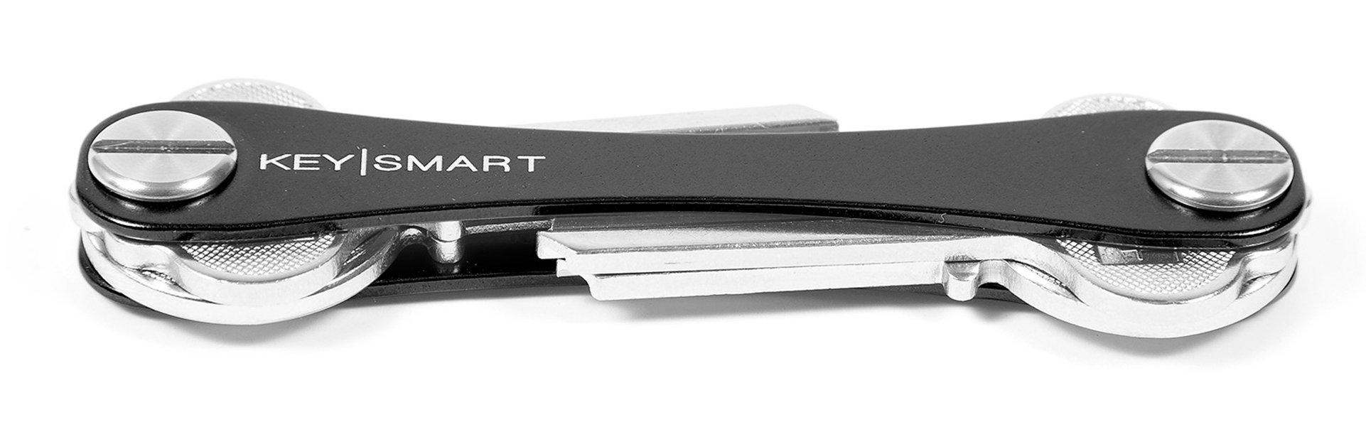 KeySmart - Compact Key Holder and Keychain Organizer (up to 8 Keys, Black)