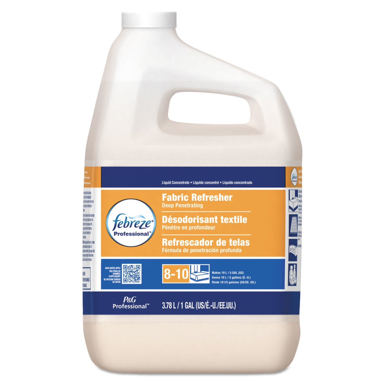 Febreze 36551 Professional Fabric Refresher Deep Penetrating, 5X Concentrate, 1 Gallon (Case of 2)