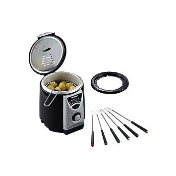 Severin FR 2408 Mini-Friteuse, mit Fonduefunktion, 950ml, 840W, schwarz/silber: Amazon.es: Hogar