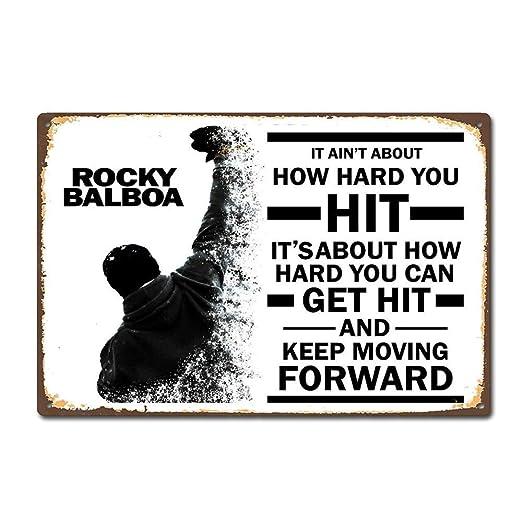 BORJOR Rocky Moive Film Sticker -Cartel de Pared estaño ...