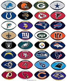 graphic relating to Printable List of Nfl Teams identified as : NFL Employees Emblem Stickers Fixed of 50 Soccer