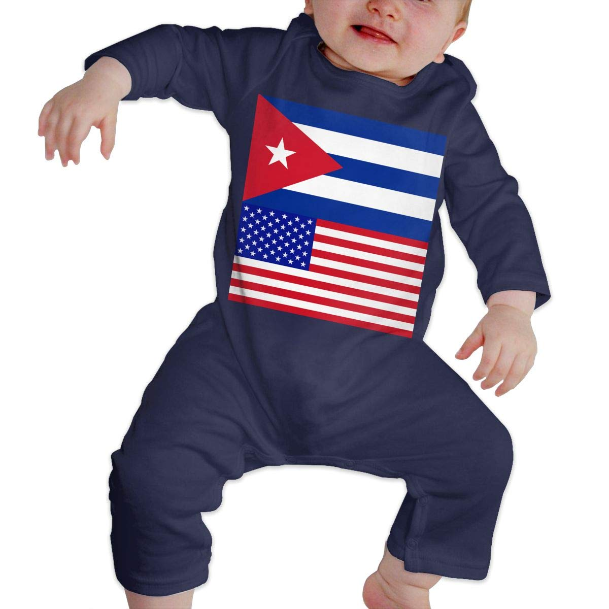 Mri-le1 Toddler Baby Boy Girl Organic Coverall Cuba-American Proud Toddler Jumpsuit