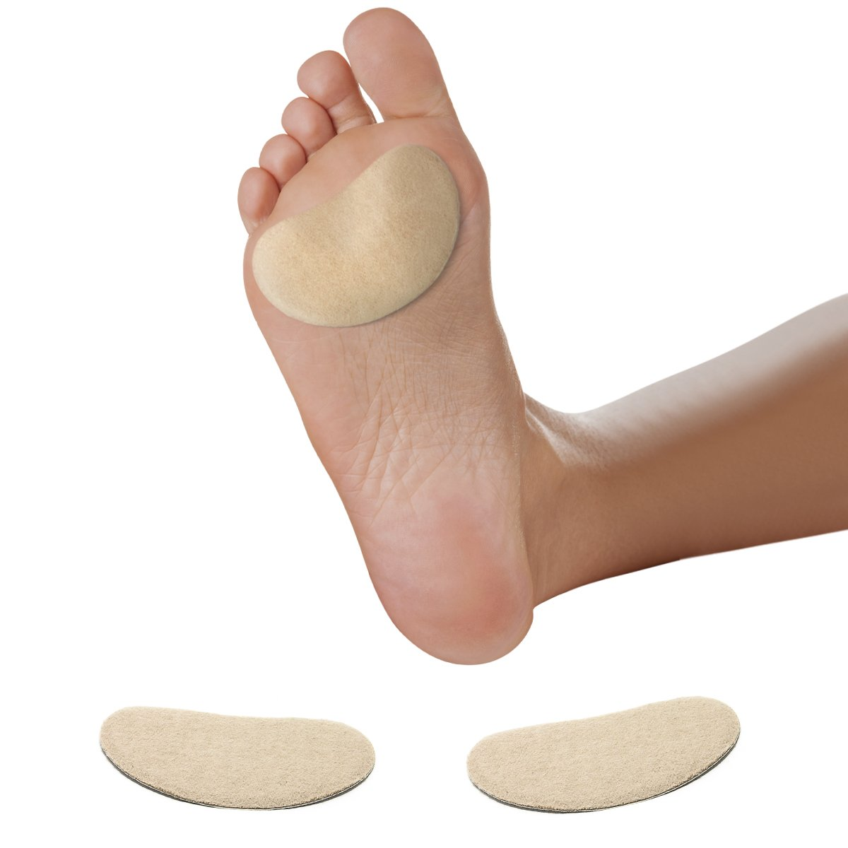 Premium Adhesive Moleskin Kidney Metatarsal Pads - Thin Low Profile Blister Prevention - 3'' Long - 100 Pieces by MARS WELLNESS