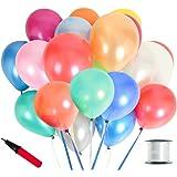 JINSELF 【あんしん極厚風船】 100個セット 誕生日 結婚式 飾り 装飾 空気入れ