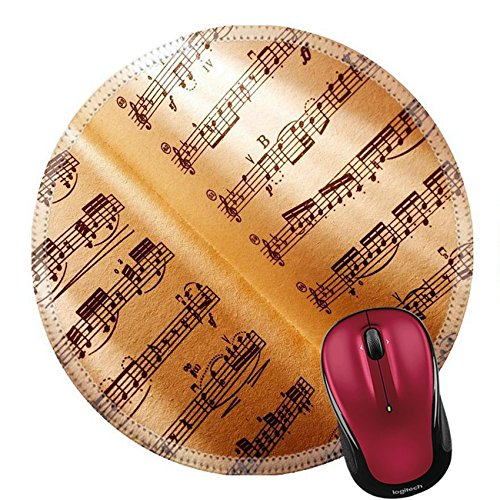 Ludwig Rubber - Liili Round Mouse Pad Natural Rubber Mousepad Music background Ludwig van Beethoven Sonata No 3 Photo 8048934