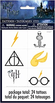 Harry Potter Party Favor Tattoo Sheets [4 sheets per pack]: Amazon ...