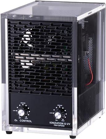 6 Etapa acrílico HEPA casa iónica de ozono purificador de aire ...
