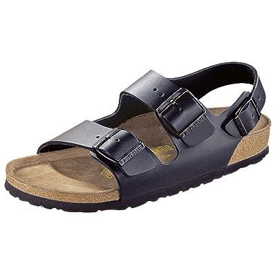 e961c618ddf Birkenstock Milano - Backstrap Sandals - Black - Leather - Narrow - Size 38   Amazon.co.uk  Shoes   Bags