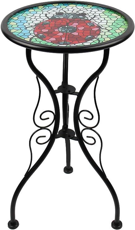 Liffy - Banco de mesa auxiliar para jardín, patio o césped, diseño ...