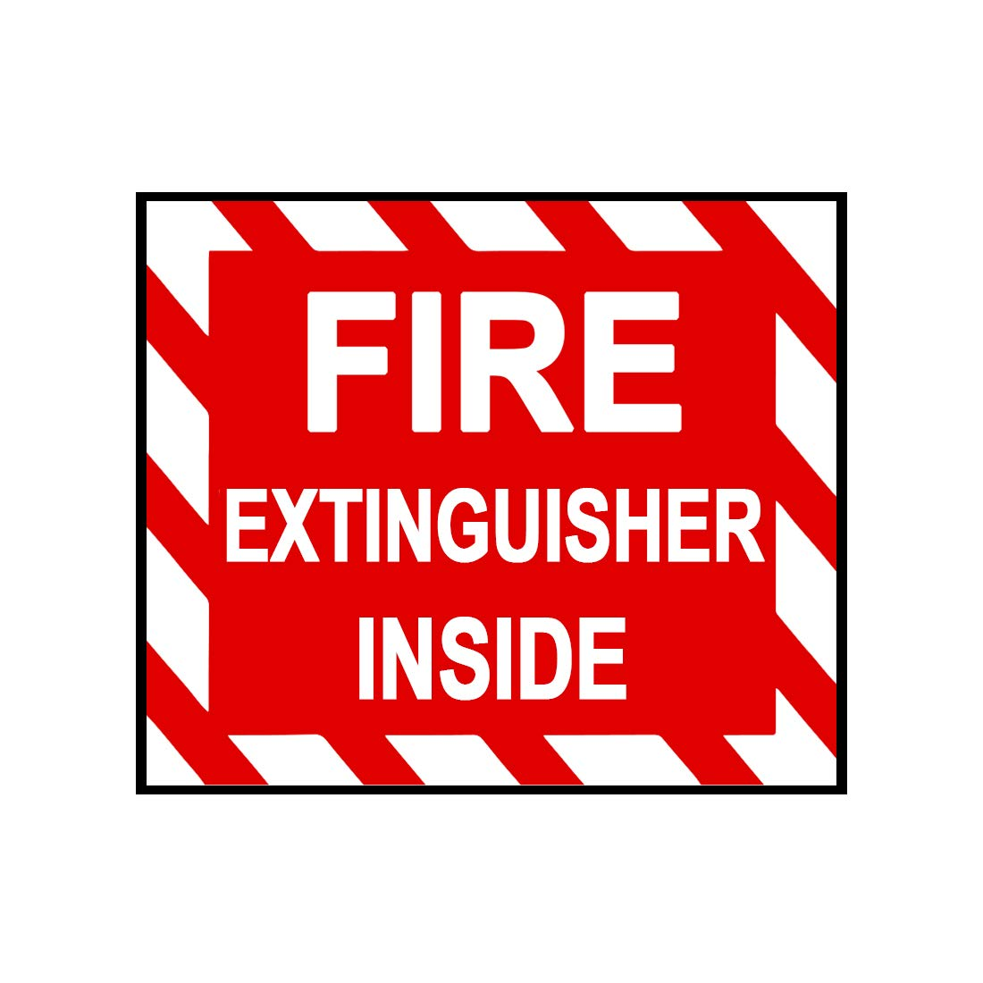 Fire Extinguisher Interior Sign Sticker Decal Notebook Car Laptop 5 x 4 Bargain Max Decals MAX-100468 Color