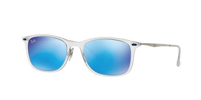 868085e471 Amazon.com  Ray-Ban RB4225-646 55 Sunglasses Trasp Gunmetal w Blue ...