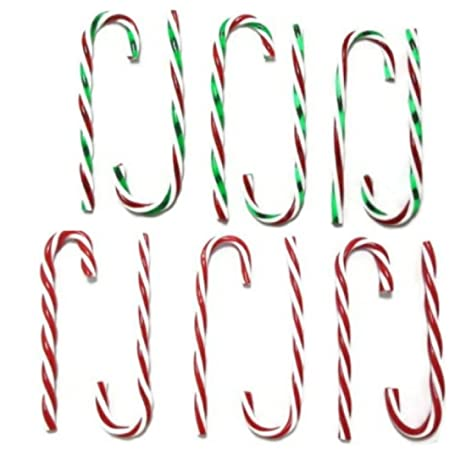 amazon com candy cane christmas ornaments 4 6 ct packs 2 red 2