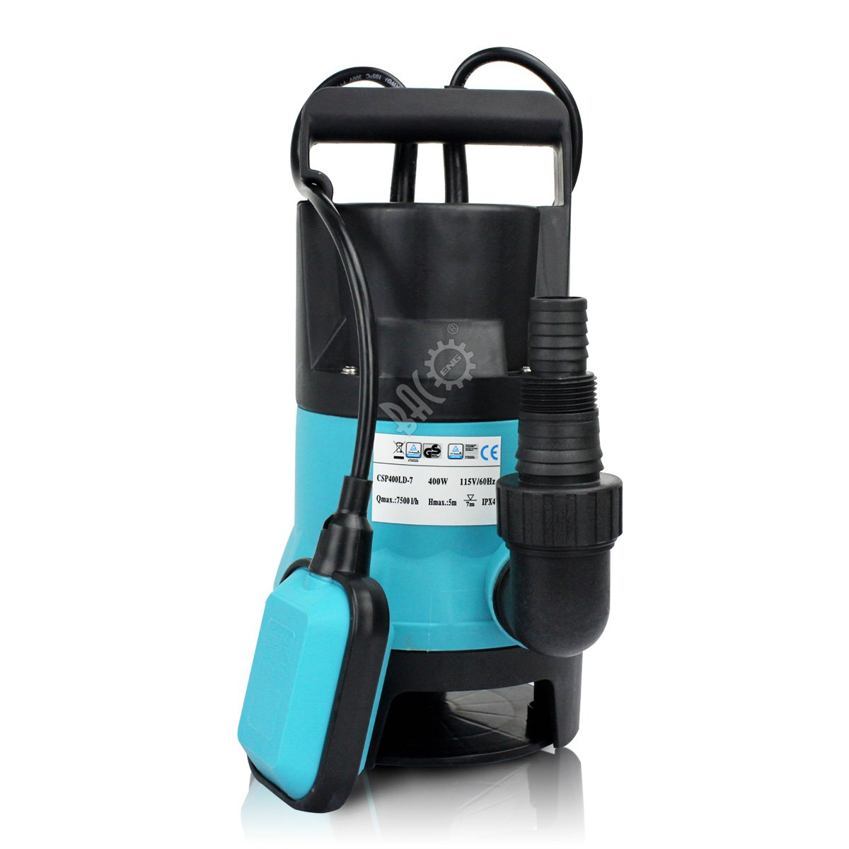 BACOENG 1/2HP Clean/Dirty Water Submersible Sump Pump 2000GPH w/ 33FT Cable