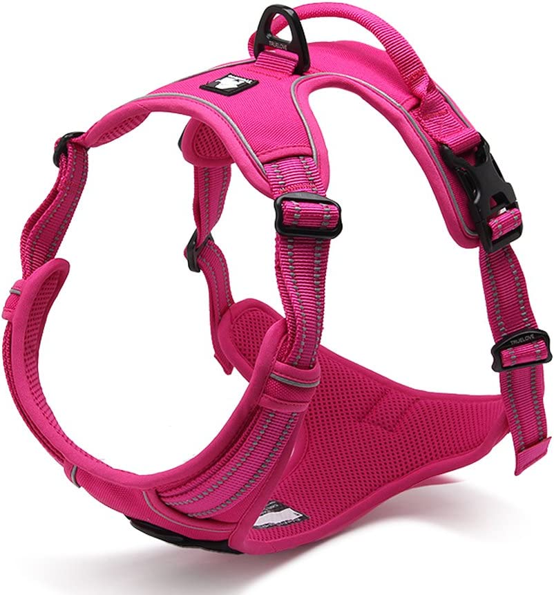 SGODA Dog Harness Reflective Pet Vest Harness with Handle