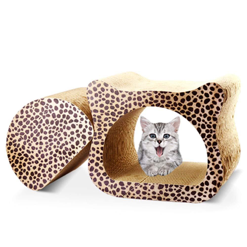 Leopard Cat Scratcher Corrugated Cat Scratcher Bed with Catnip,Cardboard Lounge,Superior Cardboard & Construction