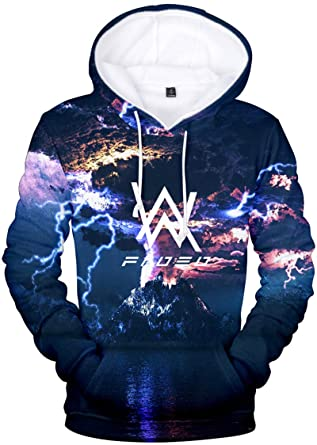 90ea58b94b462 Bettydom Men's Women's Teen's Hoodies Alan Walker 3D Printed Sweatshirt