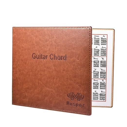 fgghfgrtgtg Portátil del Cuero del Libro 6 Cuerdas Guitarra ...